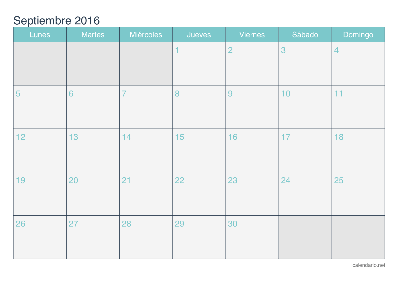 Calendario 2016 Plantilla Word | Calendar Template 2016
